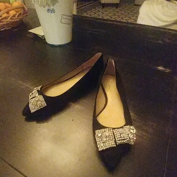 Ann Taylor Shoes - Ann Taylor Crystal pearlized flats